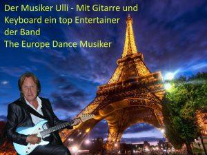 Europe Dance Musiker Ulli - Entertainer mit Keyboard und Gitarre, Mitglied der Partyband aus Alsdorf the Europe Dance Musiker